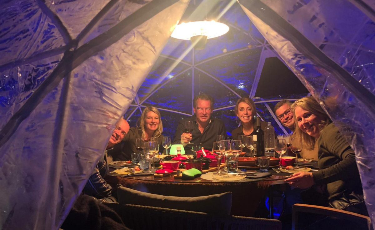 private dining in een iglo